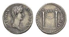 NN 7 Lot 139 - In the name of Antonia, wife of Nero Claudius Drusus Denarius circa 41-45