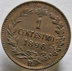 1 cent. 1896 R. V.