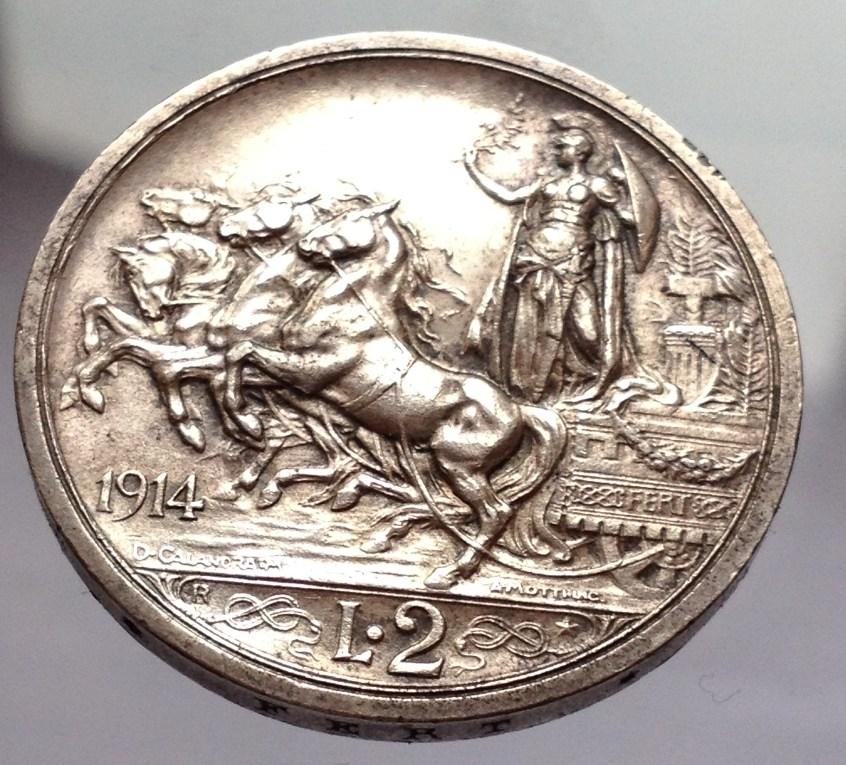 2 lire 1914