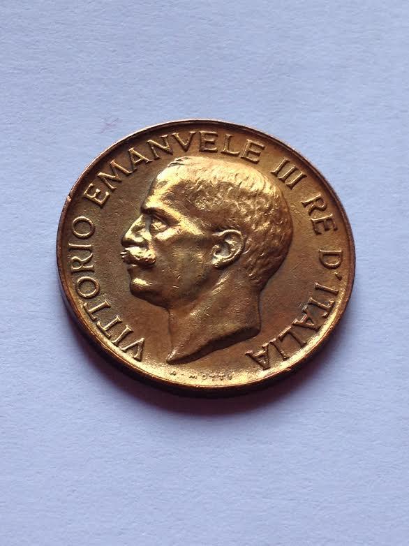 5 Centesimi spiga 1921