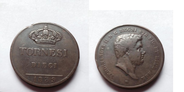 10 Tornesi 1839