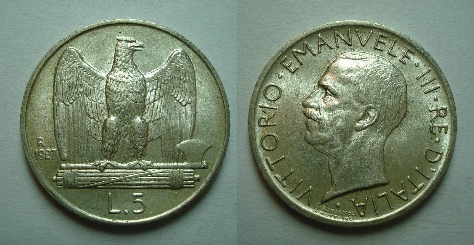 5 lire 1927
