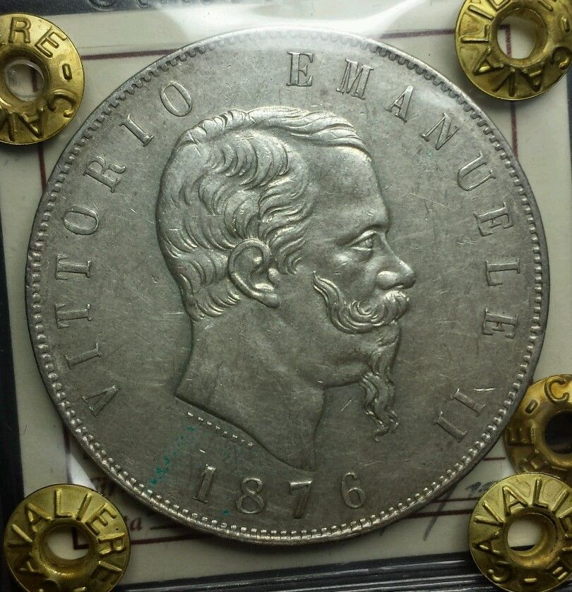 5 lire 1876