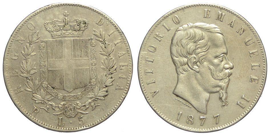 5 lire 1877
