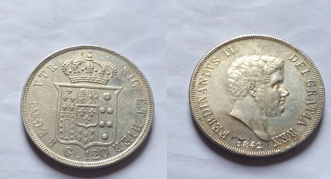 120 grana Ferdinando II 1842