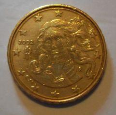 10 cen italia 2002 variante doppio bordo