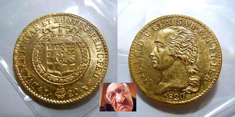 V.E.I 20 lire 1820 T