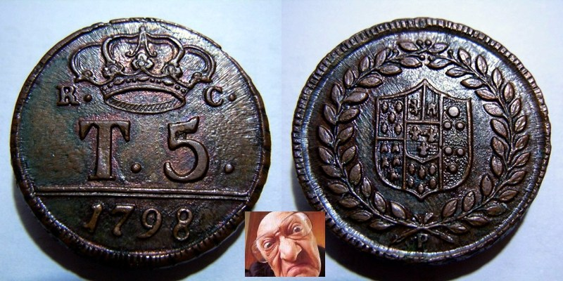 FERD IV 5 TORNESI 1798