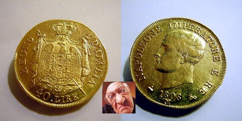 NAPOLEONE I 40 LIRE 1808 M 1 TIPO