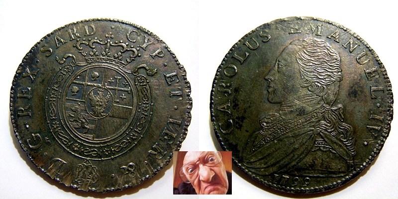 CARL EMAN IV MEZZO SCUDO 1799