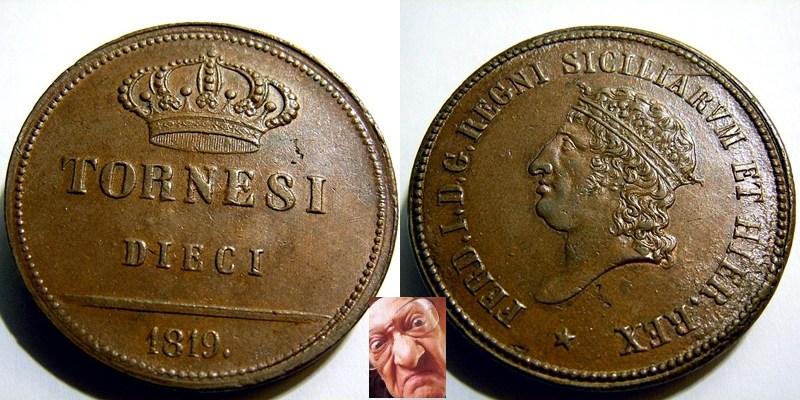 FERD IV 10 TORNESI 1819