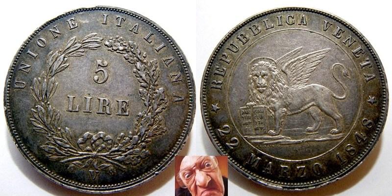 5lire 1848 Venezia 22 M