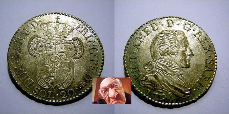 VITT AMEDEO III 20 SOLDI 1794