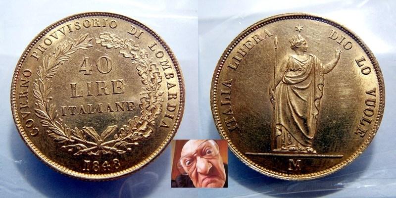 40 lire 1848 Milano