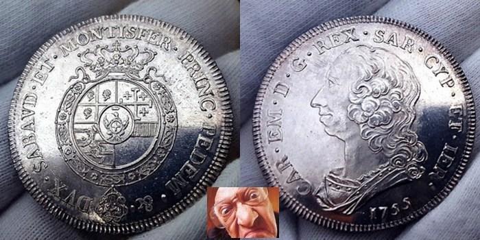 Carlo Emanuele III 6 lire 1755