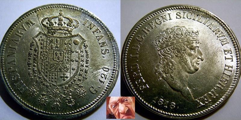 FERD IV PIASTRA 120 GRANA 1818 TP