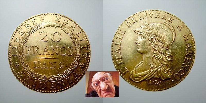 Repubblica Subalpina 20 Francs AN 9