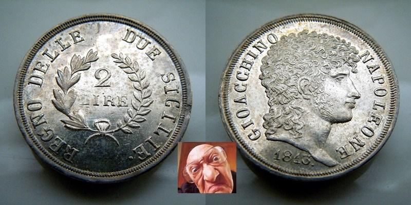 Gioacchino Murat 2 lire 1813