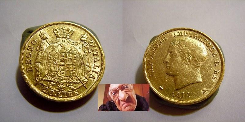 NAPOLEONE I 20 LIRE 1811 M 2 TIPO