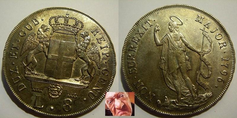 REP GENOVA 8 LIRE 1796