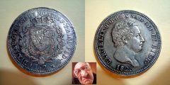 Carlo Felice 2 lire 1825 T