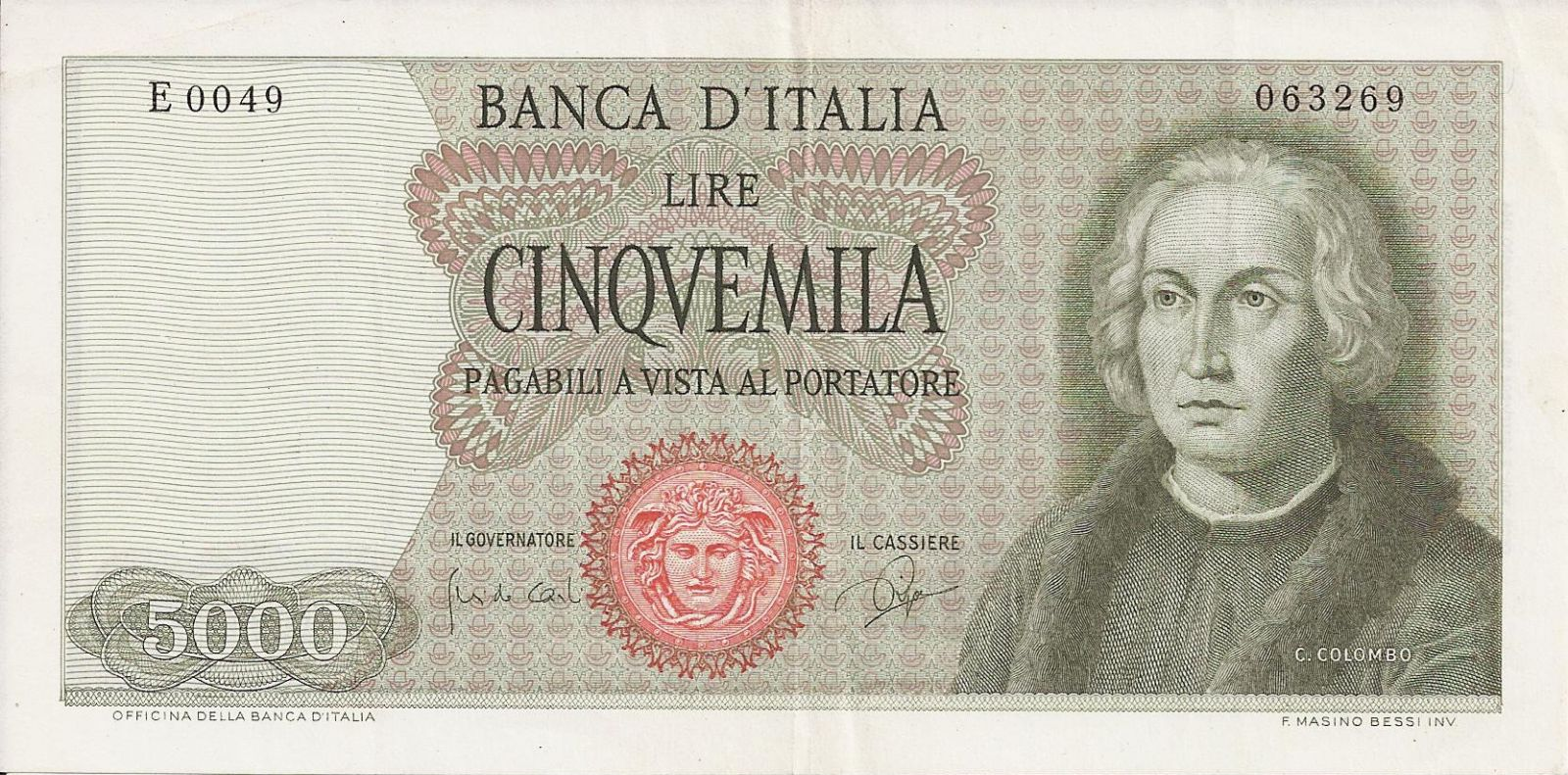 5000 Lire Colombo