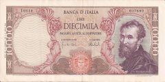 10000 Lire Michelangelo
