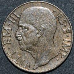 10 centesimi Impero Vittorio Emanuele III   Dritto