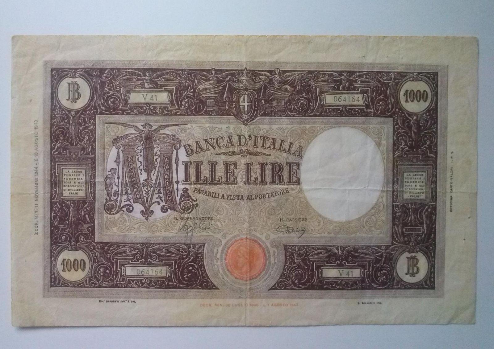 1000 lire grande M