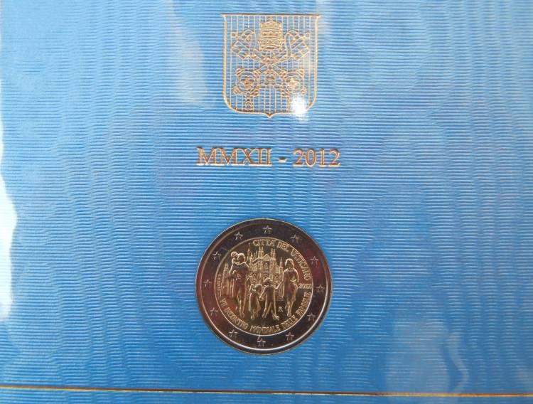 2 euro commemorativo Vaticano 2012 incontro famiglie