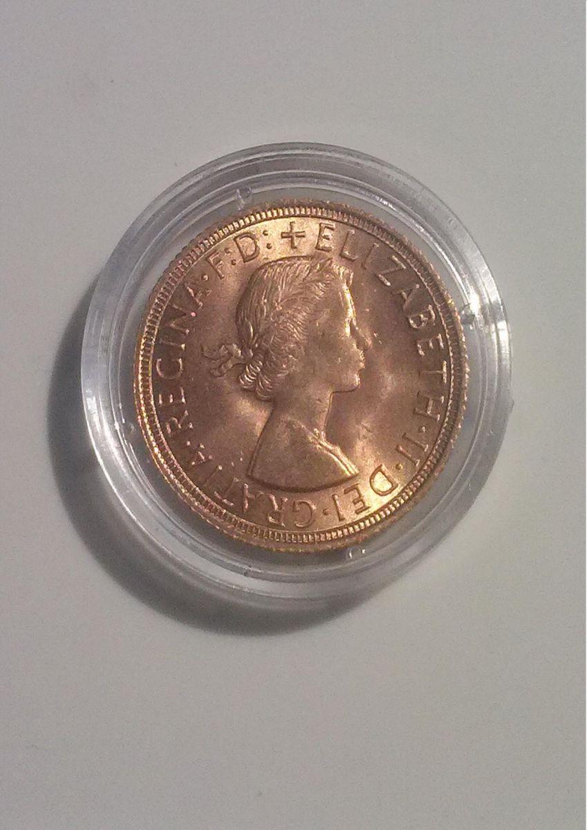 1 sterlina d'oro 1958 retro