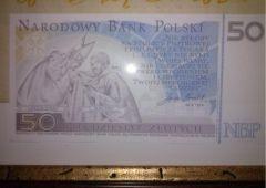 Banconota 50 zloty commemorativa beatificazione Giovanni Paolo II retro
