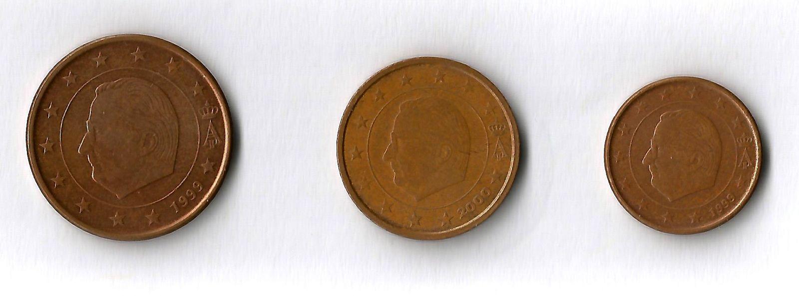 belgio 5,2,1 cent