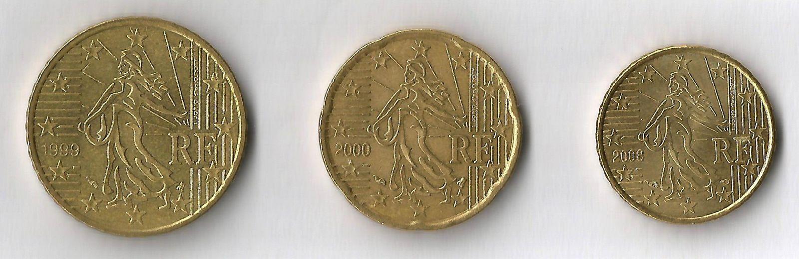 francia 50,20,10 cent