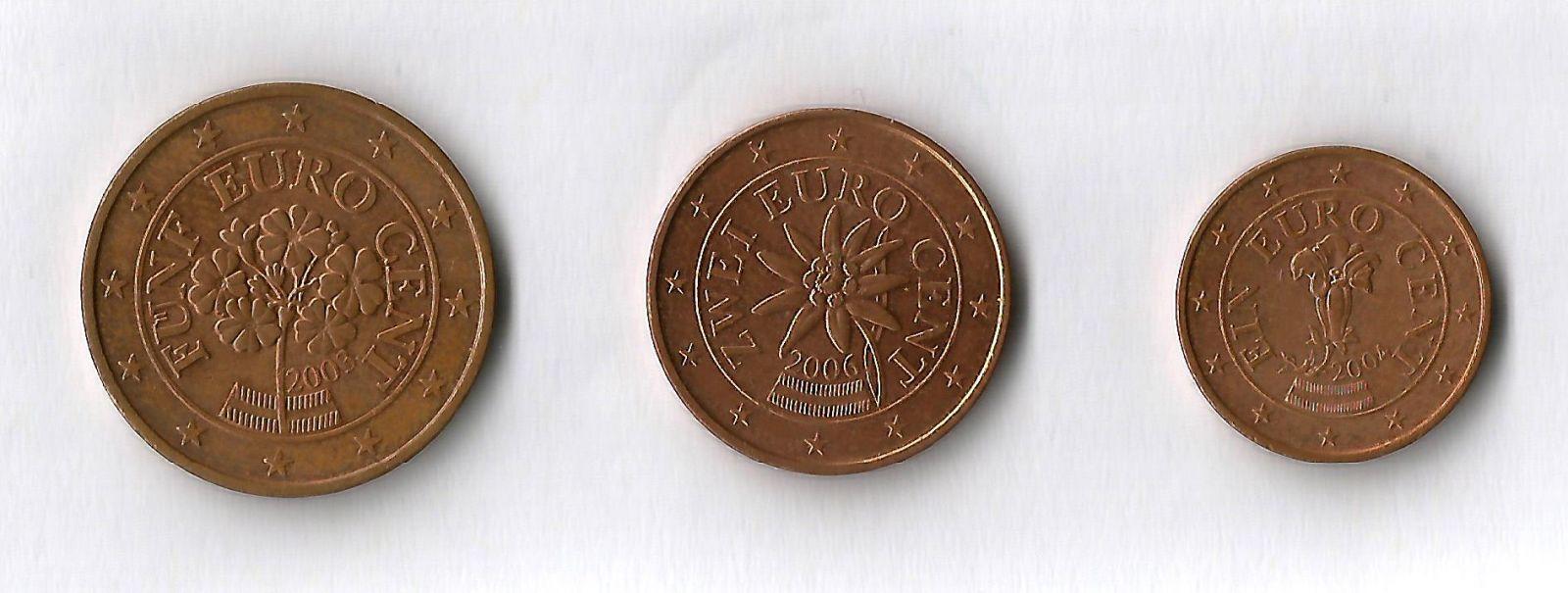 austria 5,2,1 cent