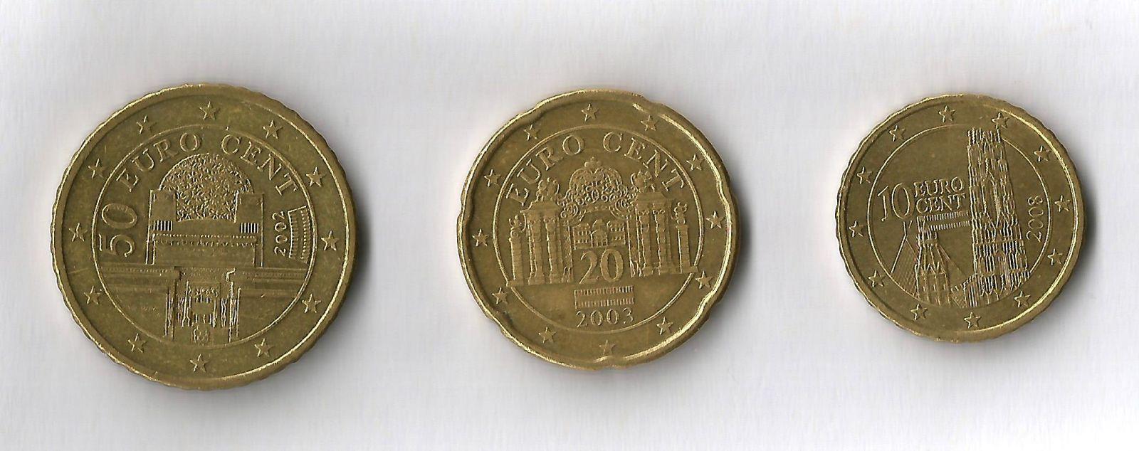austria 50,20,10 cent