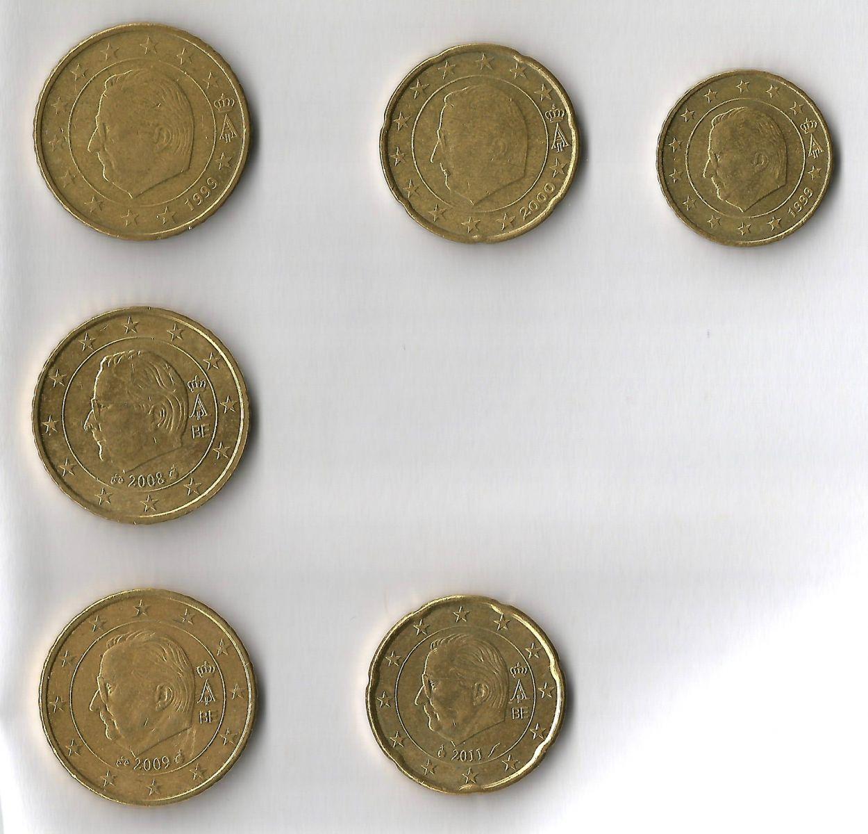 belgio 50,20,10 cent