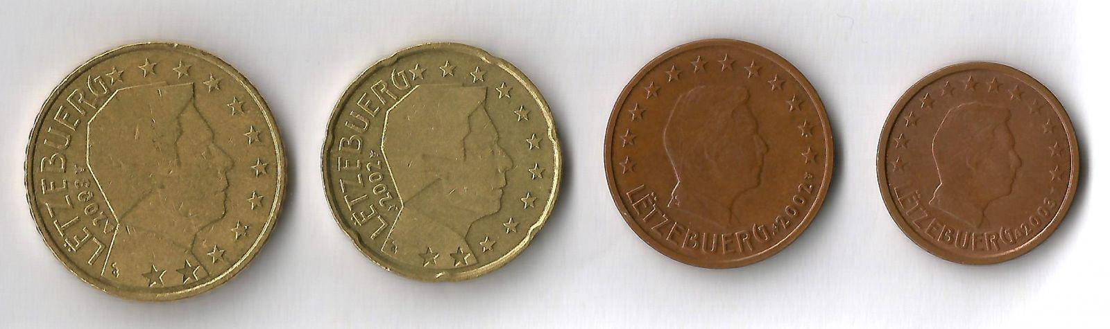 lussemburgo 50,20,5,2 cent