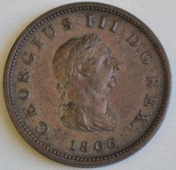 penny 1806 D