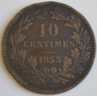 10 centimes 1855