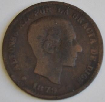 5 centimos 1879 D