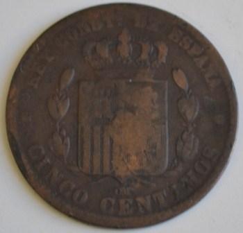 5 centimos 1879