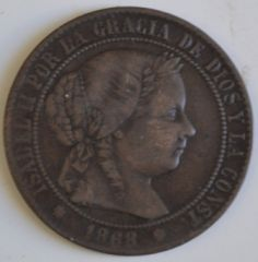 2 centesimi E mezzo 1858 D