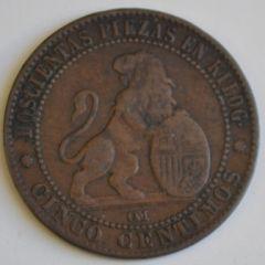 5 centimos 1870