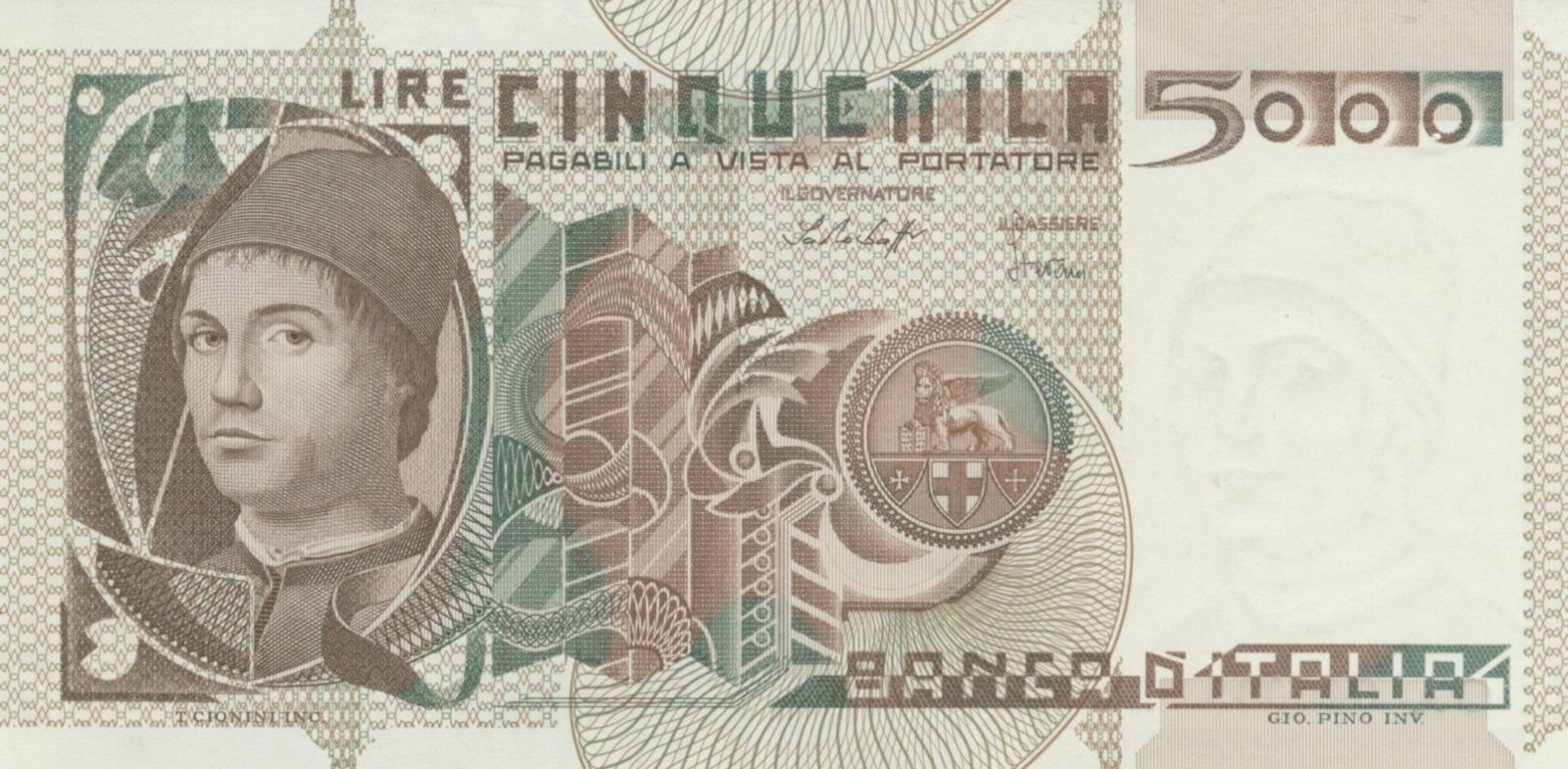 5.000 lire Antonello da Messina