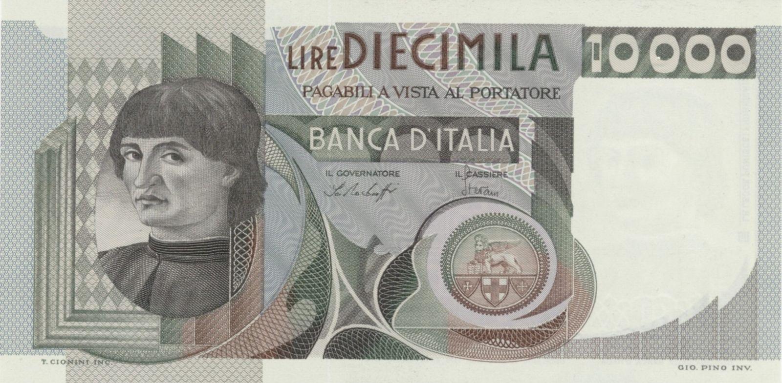 10.000 lire Machiavelli