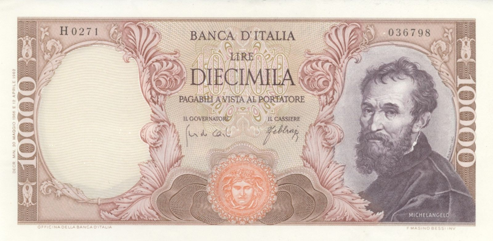10.000 lire Michelangelo