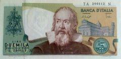 2.000 lire Galileo Galilei