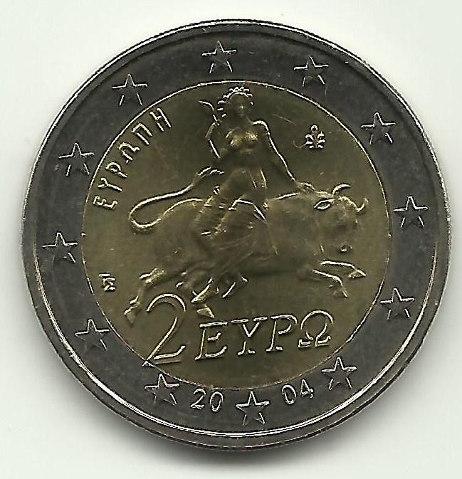 2 Euro Grecia 2004