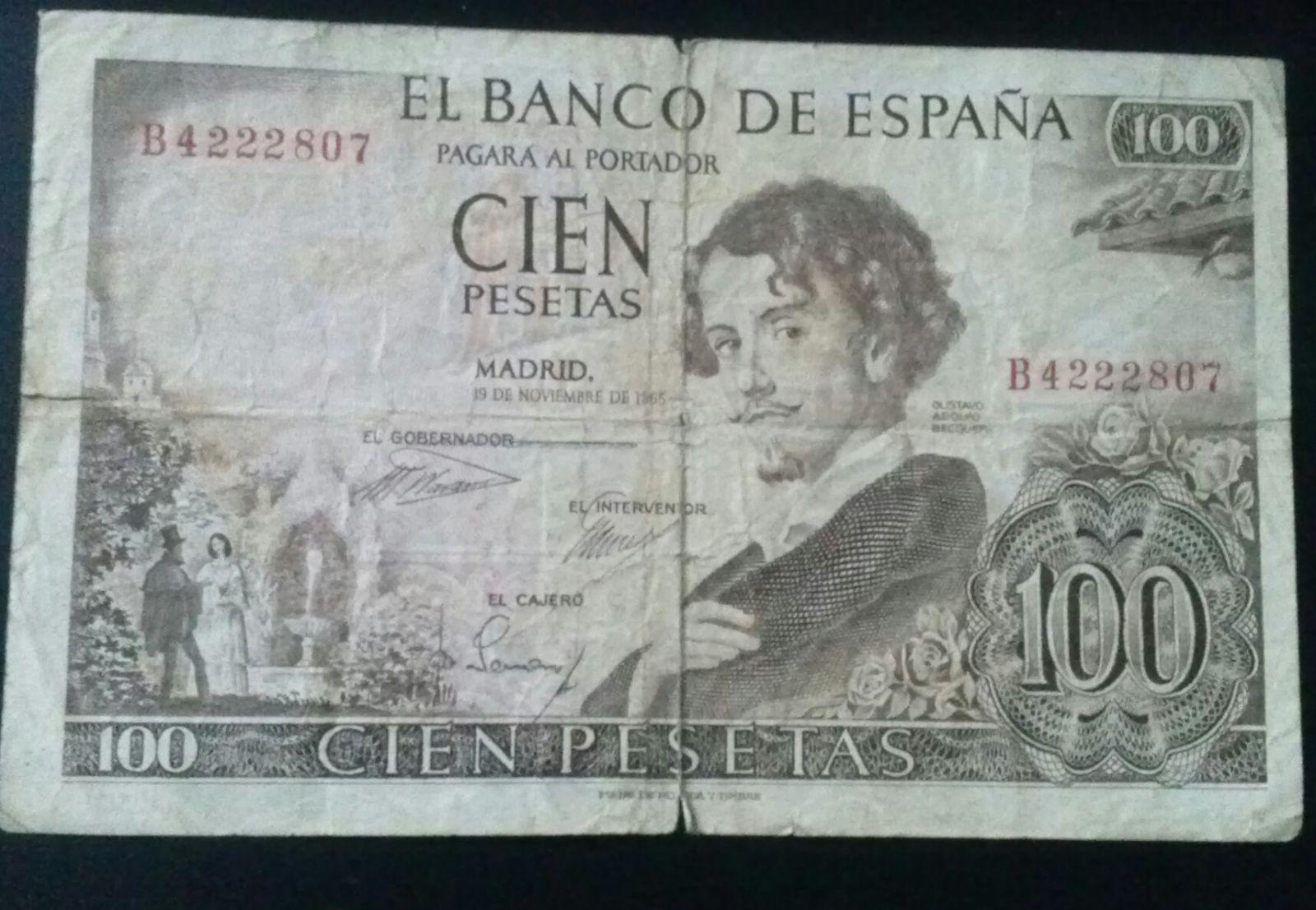Spagna 100 Pesetas 1965 (Dritto)